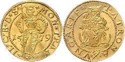 1 Ducat Principality of Transylvania (1571-1711) Gold Sigismund Báthory,  prince of Transylvania (1572 -1613)