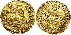 1 Ducat Principality of Transylvania (1571-1711) Gold György Rákóczi II,  prince of Transylvania (1621 -1660)