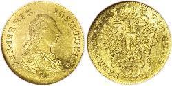 1 Ducat Holy Roman Empire (962-1806) / Principality of Transylvania (1571-1711) Gold Joseph II, Holy Roman Emperor  (1741 - 1790)