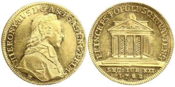 1 Ducat Salzburg Gold Count Hieronymus von Colloredo (1732 - 1812)