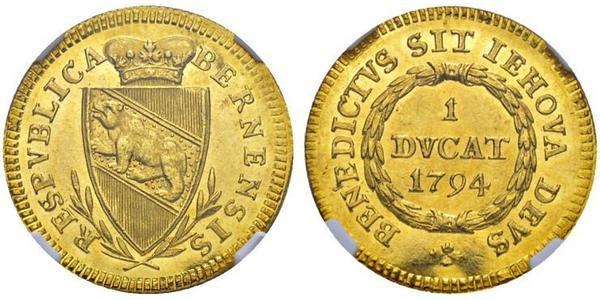 1 Ducat Switzerland Gold