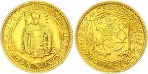 1 Ducat Tschechoslowakei  (1918-1992) Gold