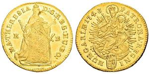 1 Ducat Ungarn Gold Maria Theresa of Austria (1717 - 1780)