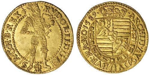 1 Ducat Ååstenrik Or Rodolphe II du Saint-Empire (1552 - 1612)