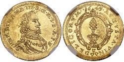 1 Ducat Augsbourg (1276 - 1803) Or Ferdinand III, Holy Roman Emperor (1608-1657)