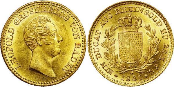 1 Ducat Grand-duché de Bade (1806-1918) Or Léopold Ier de Bade(1790 – 1852)