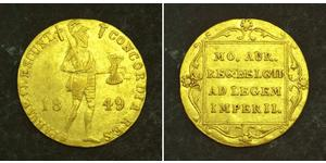 1 Ducat Royaume des Pays-Bas (1815 - ) Or