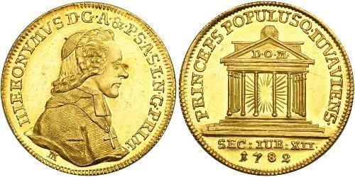 1 Ducat Salzbourg Or Hieronymus von Colloredo-Mannsfeld (1732 - 1812)