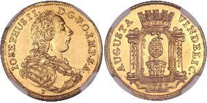 1 Ducat Augsburgo (1276 - 1803) Oro Joseph II, Holy Roman Emperor  (1741 - 1790)