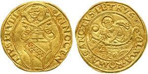 1 Ducat Estados Pontificios (752-1870) Oro Inocencio VIII (1432 -1492)