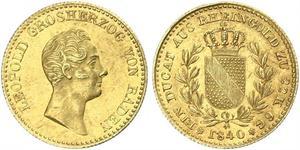 1 Ducat Gran Ducado de Baden (1806-1918) Oro Leopoldo I de Baden(1790 – 1852)