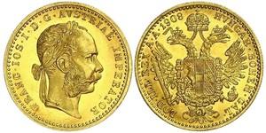 1 Ducat Habsburg Empire (1526-1804) Oro Franz Joseph I (1830 - 1916)