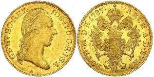 1 Ducat Imperio austríaco (1804-1867) Oro Joseph II, Holy Roman Emperor  (1741 - 1790)