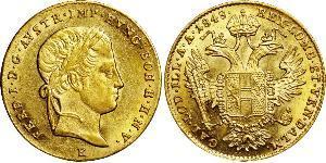 1 Ducat Imperio austríaco (1804-1867) Oro Ferdinand I of Austria (1793 - 1875)