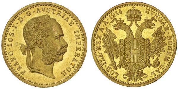 1 Ducat Impero austro-ungarico (1867-1918) Oro Franz Joseph I (1830 - 1916)