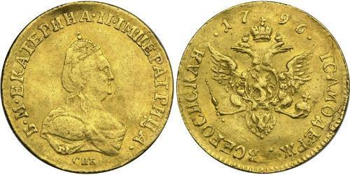 1 Ducat Impero russo (1720-1917) Oro Caterina II (1729-1796)
