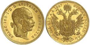 1 Ducat Monarchia asburgica (1526-1804) Oro Franz Joseph I (1830 - 1916)
