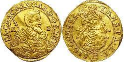 1 Ducat Principality of Transylvania (1571-1711) Oro Gabriel Bethlen, Príncipe de Transilvania (1580-1629)