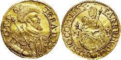 1 Ducat Principality of Transylvania (1571-1711) Oro Jorge Rákóczi II (1621 -1660)