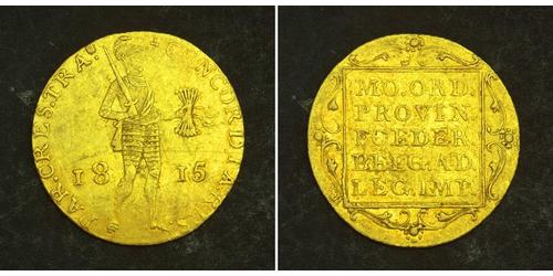 1 Ducat Regno dei Paesi Bassi (1815 - ) Oro William I of the Netherlands (1772 - 1843)