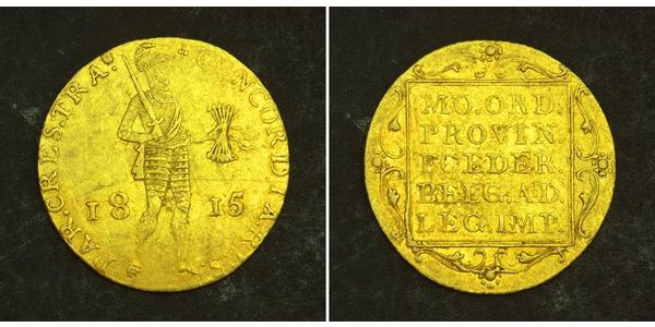1 Ducat Regno dei Paesi Bassi (1815 - ) Oro William I of the Netherlands (1772 - 1843)