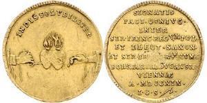 1 Ducat República de las Dos Naciones (1569-1795) Oro August ll Mocny