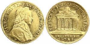 1 Ducat Salisburgo Oro Hieronymus von Colloredo (1732 - 1812)