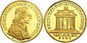 1 Ducat Salzburgo Oro Hieronymus von Colloredo (1732 - 1812)