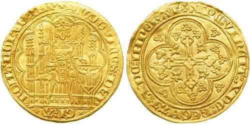 1 Ducat Stati federali della Germania Oro Louis IV, Holy Roman Emperor (1282-1347)