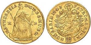 1 Ducat Ungheria Oro Maria Theresa of Austria (1717 - 1780)