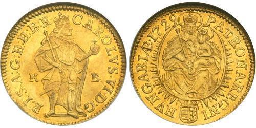 1 Ducat Ungheria (1989 - ) Oro Carlo VI del Sacro Romano Impero (1685-1740)