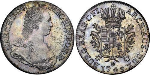 1 Ducaton Austrian Netherlands (1713-1795) 銀 玛丽亚·特蕾西亚 (1717 - 1780)