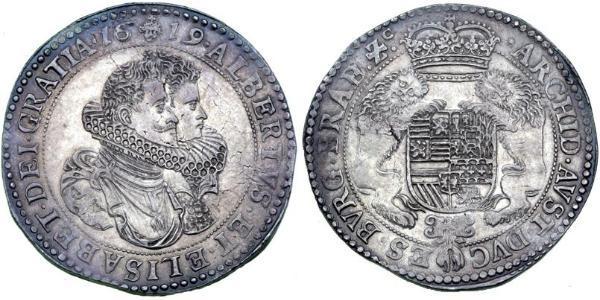 1 Ducaton Republik der Sieben Vereinigten Provinzen (1581 - 1795) Silber Isabel Clara Eugenia von Österreich (1566 -1633) / Albrecht VII. von Österreich (1559 - 1621)