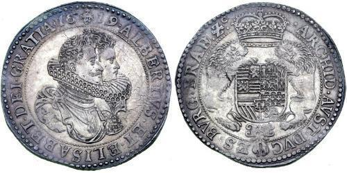 1 Ducaton Dutch Republic (1581 - 1795) Silver Isabella Clara Eugenia (1566 -1633) / Albert VII, Archduke of Austria (1559 - 1621)