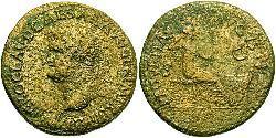 1 Dupondius Roman Empire (27BC-395) Orichalcum Nero  (37- 68)