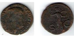 1 Dupondius Roman Empire (27BC-395)  Tiberius Claudius Nero (42 BC-37)