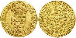 1 Ecu 中世纪的法国 金 查理六世 (法兰西)(1368-1422)