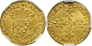 1 Ecu 中世纪的法国 金 查理九世 (法兰西)(1550 -1574)
