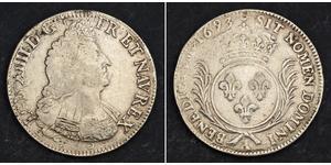 1 Ecu 中世纪的法国 銀 路易十四 (1638-1715)