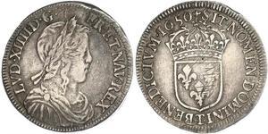 1 Ecu 法国 銀 路易十四 (1638-1715)