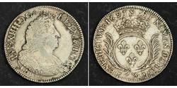 1 Ecu Kingdom of France (843-1791) Argent Louis XIV de France (1638-1715)