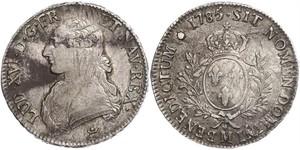 1 Ecu Kingdom of France (843-1791) Argent Louis XVI de France (1754 - 1793)