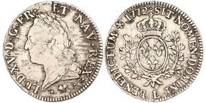1 Ecu Kingdom of France (843-1791) Argent Louis XV de France (1710-1774)