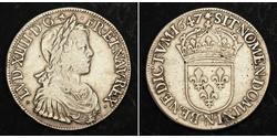1 Ecu Francia Argento Luigi XIV di Francia (1638-1715)