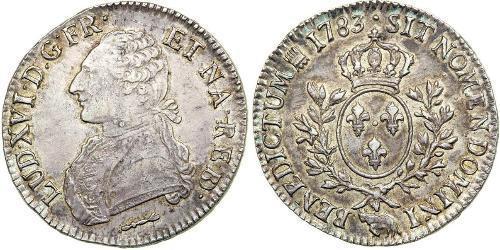 1 Ecu Francia medioevale (843-1791) Argento Luigi XVI di Francia (1754 - 1793)