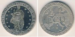 1 Ecu United Kingdom Copper/Nickel