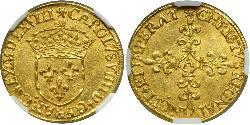 1 Ecu Kingdom of France (843-1791) Gold Karl IX. (Frankreich)(1550 -1574)