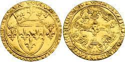 1 Ecu Kingdom of France (843-1791) Gold Charles VII of France (1403 - 1461)