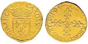 1 Ecu Kingdom of France (843-1791) Gold Charles IX of France (1550 -1574)
