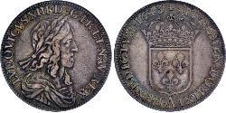 1 Ecu Reino de Francia (843-1791) Plata Luis XIII de Francia (1601 - 1643)